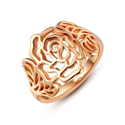 Roxi Fashion Neue heiße Retro Gold hohle Blumen-Weinlese-Qualitäts-Ring-Schmucksachen für Frauen-Geschenk-Mädchen