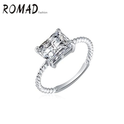 ROXI Мода уникальный шарм горячего металла Медь Позолоченные Циркон Rhinestone Кристалл кольцо для ювелирных изделий венчания партии Обручальное аксессуаров девушки женщин
