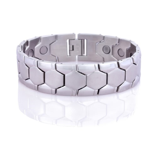 New Fashion Charm Man's Male Stainless Steel Cuff Bangle Bracelet Chain Wristband Jewelry for Band Party