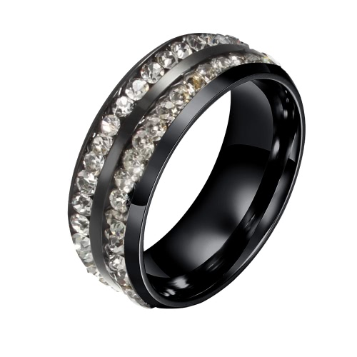Moda Nowy Gorący Unikalne Kobieta Punk Metal Tytan Steel Ring for Woman Party Wedding Band Prezent Charm Biżuteria