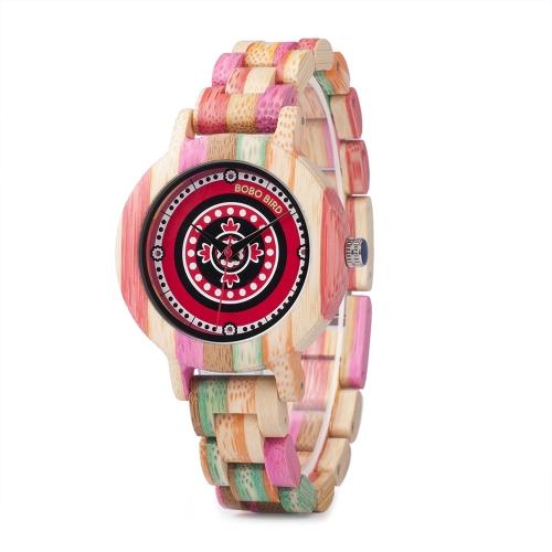 BOBO BIRD Fashion Relógios de madeira de bambu f