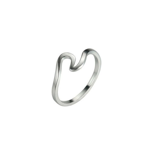 Style of Waves Spindrift Rings Irregular Slender Fashion Personality Creative Joint Tail Ring Accessories of Women and Girls