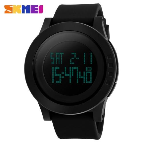 Reloj de pulsera Casual SKMEI marca moda hombres Digital deportes militar reloj Dial grande estudiante muchacho del hombre, con luz de fondo de fecha