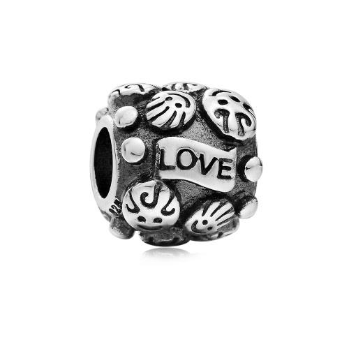 Romacci S925 plata lindo amor encanto grano para 3mm cadena pulsera brazalete collar europeo DIY mujeres joyería