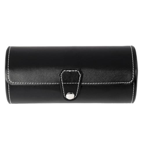 Torba skórzana PU Skórzana torba na zakupy Skrzynka na bagażnik na torby na 3 zegarki z poduszkami