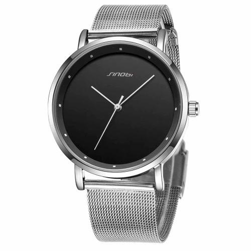 SINOBI 2016 Pareja nueva manera de los relojes de cuarzo Ronda simple Dot Escala de cuero de la PU banda de aleación Hombre / Mujer Y Reloj de pulsera