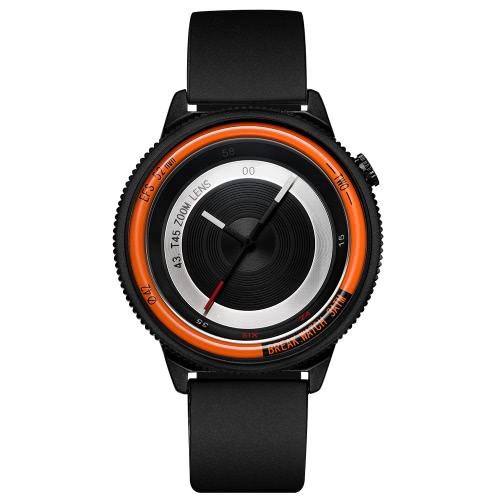 Break unique marque de luxe en acier inoxydable quartz hommes montres mode de caméra analogique mode homme montre-bracelet décontracté + boîte