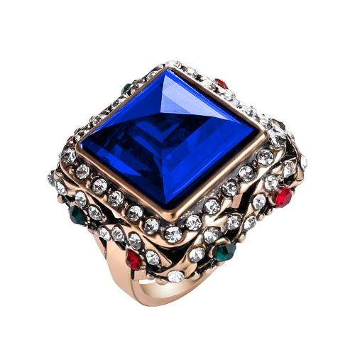 Anillo de piedra de la vendimia del Rhinestone de la manera para el regalo de las mujeres joyería magnífica