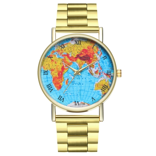 Marca Mens Relógio De Ouro De Luxo Relógio De Pulso Masculino De Quartzo Moda Homem Relógios De Aço Inoxidável de Ouro Presente para Os Homens