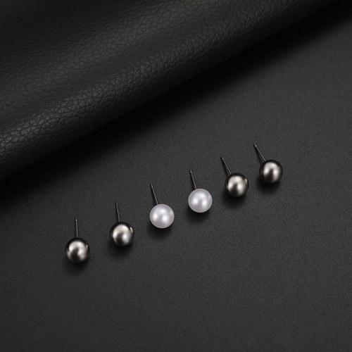 Modeschmuck Set Anhänger Halskette Einfache Perle Ohrstecker für Frauen Schmuck Zubehör