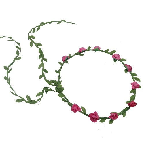 12 Pieces Multicolor Flower Crown Wreath Floral Garland Headband Party Supplies Decorations for Festival Wedding Party Vacation Photography Props