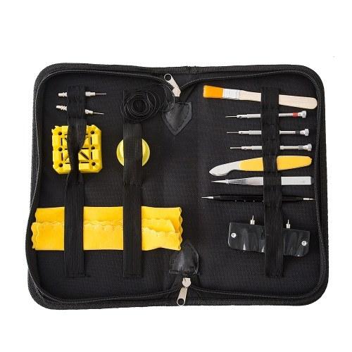 33 PCS Assista Repair Tool Kit Removedor de Abridor de Caso Chave De Fenda Primavera Bar Watchband Link Pin Reparação de Relógio de Pulso Multifuncional Conjunto de Ferramentas Domésticas