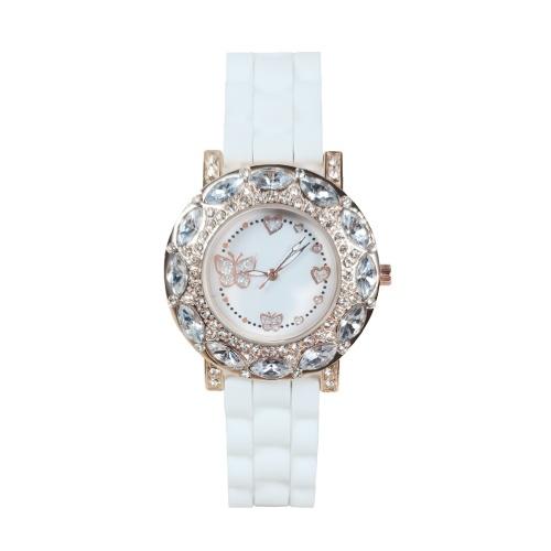 Women's Quartz Watch with Silicone Band Retro Watches Luxury Casual Fashion Wristwatch
