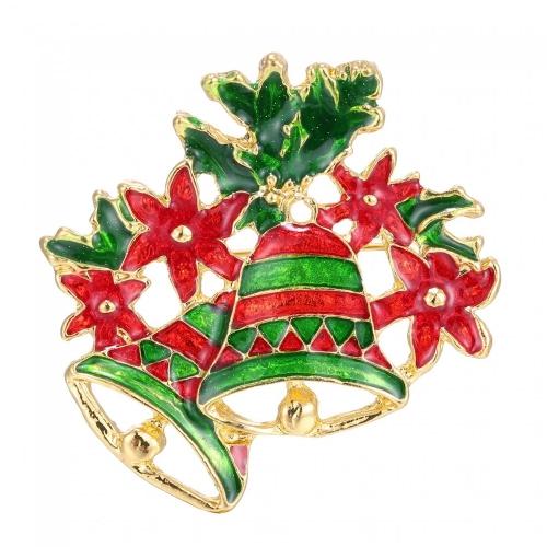 Linda encantadora pequeña campana broche moda joyería Collar Clip Pin ropa bufanda accesorio hebilla bonito año nuevo Festival regalo de Navidad
