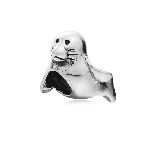 Romacci S925 plata Dolphin encanto grano para cadena de la serpiente de 3mm DIY pulsera brazalete collar moda mujer joyas accesorio