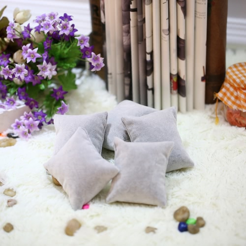 Image of 5pcs/set Soft Watch Pillow Holder Bracelet Jewelry Displays Pillow Wristwatch Accessories