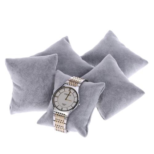 5pcs / set Soft Watch Pillow Holder Pulseira Jóias Exibições Pillow Wristwatch Acessórios