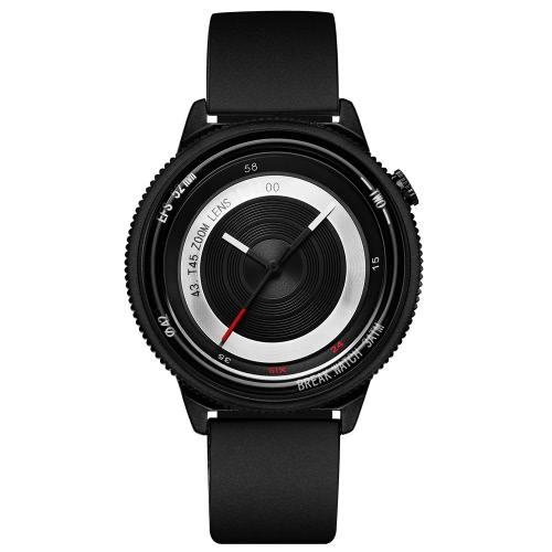 Romper marca de lujo único de acero inoxidable hombres de cuarzo relojes cámara analógica de estilo hombre de moda casual reloj de pulsera + caja