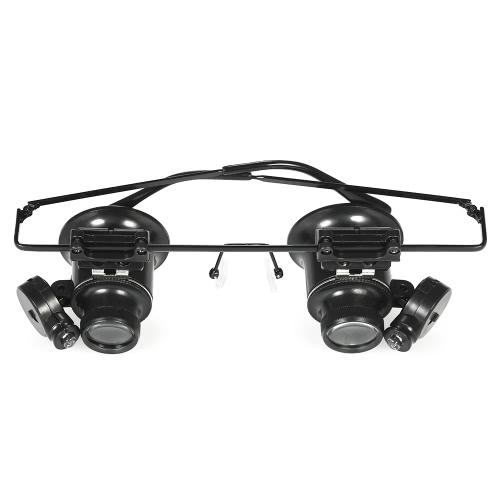 20X Doppel-Augen-Uhr-Reparatur-Lupe