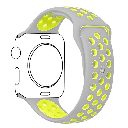 Band for iWatch 38mm&42mm Breathable Silicone Replacement Sport Strap