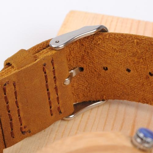 BOBOBIRD Fashion Casual Bamboo Watch Unisex Quartz Watch Genuine Leather Wooden Wristwatch Men Women