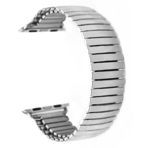 Banda de reloj elástica de acero inoxidable para iwatch serie 38mm / 42mm correa de reloj pulsera sin hebilla de repuesto banda para Apple Watch Series