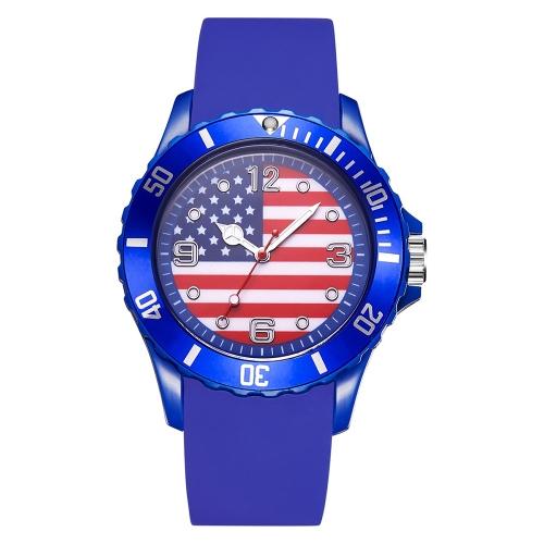 2018 Copa do Mundo de Futebol Feminino Homens Relógios de silicone Marca Moda Bandeira Quartz Assista Esportes Relógios de pulso Casual