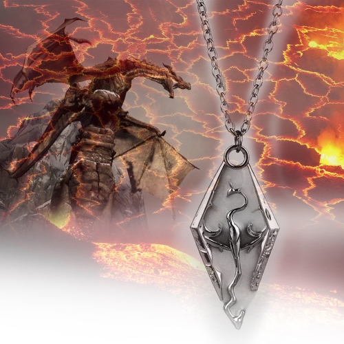 The Elder Scrolls V: Skyrim Noctilucent Dinosaur Dragonborn Necklace
