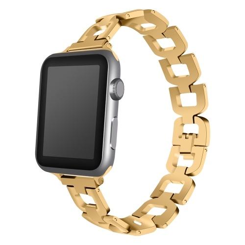 Montre bracelet bande Smart Watch bracelet en métal bracelet en acier inoxydable montre bracelet pour Apple Watch 1/2/3