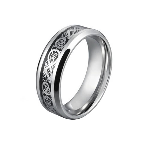 Fashion Personality Dragon Pattern Stainless Steel Men Male Finger Ring Jewelry for Valentine's Day Gift