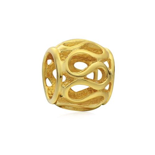 Romacci S925 plata grano hueco encanto mujeres fino accesorio de la joyería DIY para europeo 3mm serpiente cadena pulsera pulsera collar