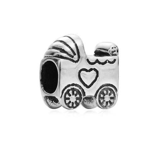 Romacci S925 plata lindo cochecito grano europeo amor encanto DIY accesorios para 3mm cadena pulsera brazalete collar joyería mujeres
