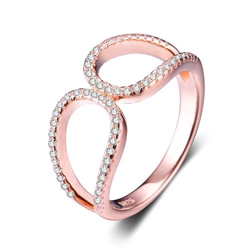 jure 925 sterlingsilber ring zirkonia hochzeit verlobungsring vorschlag braut halo rose gold. Black Bedroom Furniture Sets. Home Design Ideas