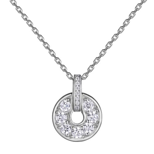 JURE S925 argento solido sterlina collana della catena The One Jewelry Zirconia 18 Inch