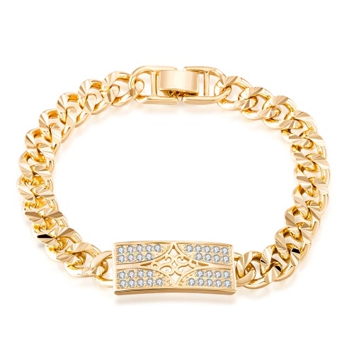 Pulsera de calidad superior de la joyería de los hombres Gold-color vendimia Estilo clásico de la mano hermosa cadena Real Moda Bijoux regalo