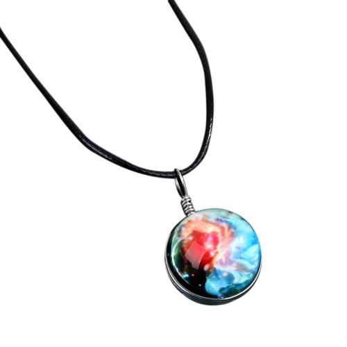 Biżuteria Gorąca Biżuteria Starry Crystal Ball Naszyjnik Gwiazda Kształt Galaxy Zawieszka Piękne Mroczne Tajemnicze