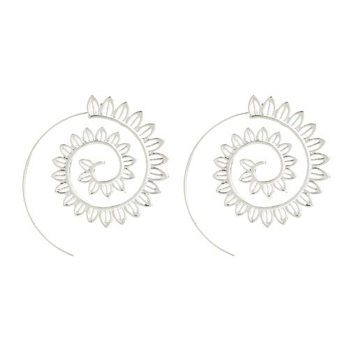 Moda Vintage Plated Circles Redondo Espiral Corazón Agua-gota En Forma Pendiente Pendientes Encanto Encanto Pendientes
