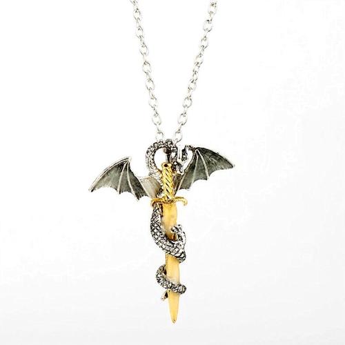 Europäische Nachtleuchtende Pterosaur Goldene Schwert Anhänger Mode Legierung Halskette Hals Dekorationen Zubehör
