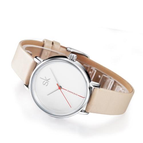Shengke Fashion Einfache Uhr 3ATM Wasserdichte Quarzuhr Frauen Armbanduhren Weiblich
