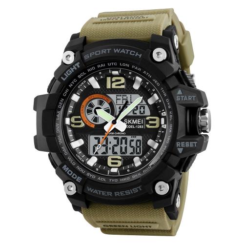 SKMEI Sport Reloj digital 5ATM resistente al agua Relojes retroiluminado Reloj de pulsera Hombre Mujer Cronógrafo