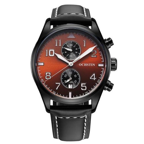 Odporne OCHSTIN 3ATM Water Moda analogowy zegarek kwarcowy Doskonały człowiek zegarek z kalendarzem