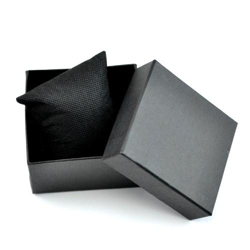 Caixa de armazenamento de relógio de pulso Chic Praça relógio caixa com esponja almofada multifuncional presente apresentar belas jóias caixa gira caixa pouco extraível