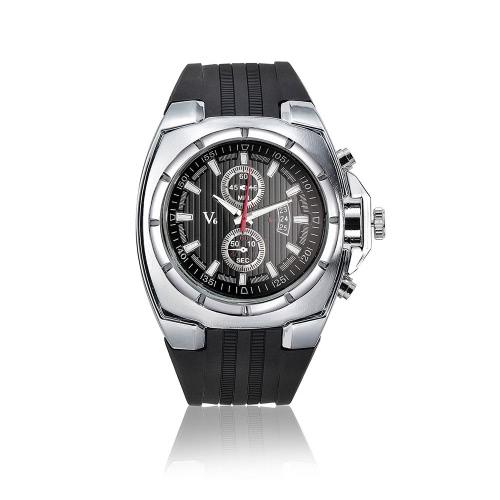 V6 De la marca reloj de cuarzo de lujo moda hombres reloj de pulsera Casual Deportivo analógico estilo hombre con sub-esfera fecha 2