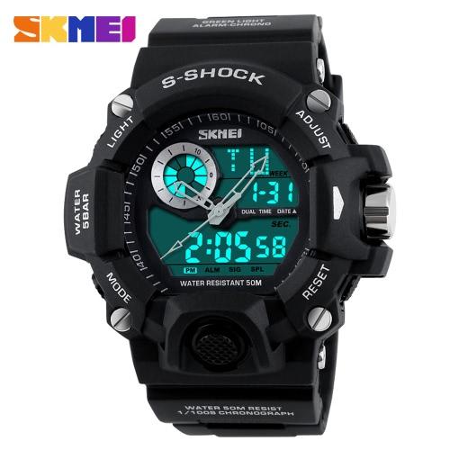 SKMEI Professional Dual Time Multifuncional de alta qualidade Men Sports Wristwatch