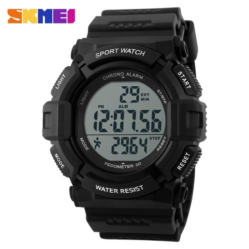 SKMEI 2016 Herren Sportuhr Marke Mode Running Schrittzähler LED Digital Stoppuhr Armbanduhr lässig militärische Uhr Alarm Uhren