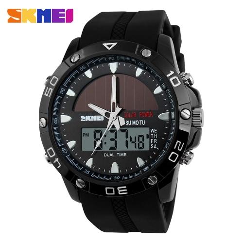SKMEI 2016 neue Marke Männermode Running Watch LED Digital Stoppuhr Multi-funktionale Outdoor-Militär Kleid Armbanduhr lässig militärische Uhr Solarenergie Sportuhren