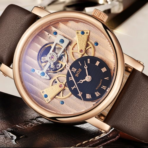 Image of Angela Bos Fashion Chic Automatic Mechanical Wristwatch