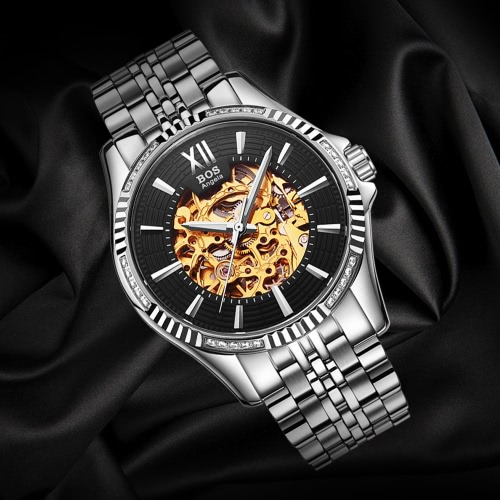 Angela Bos Luxury Automatic Mechanical Wristwatch