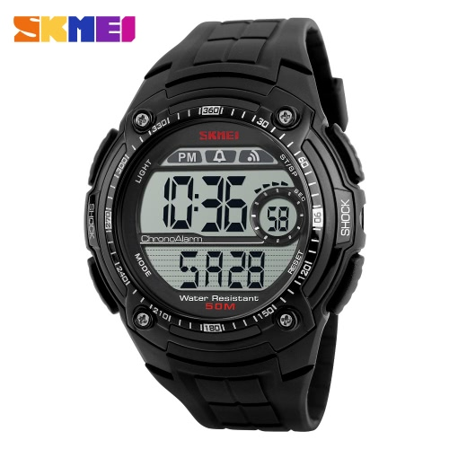 SKMEI Outdoor Waterproof Alarm Fashion Wristwatch Men Relógio de esportes
