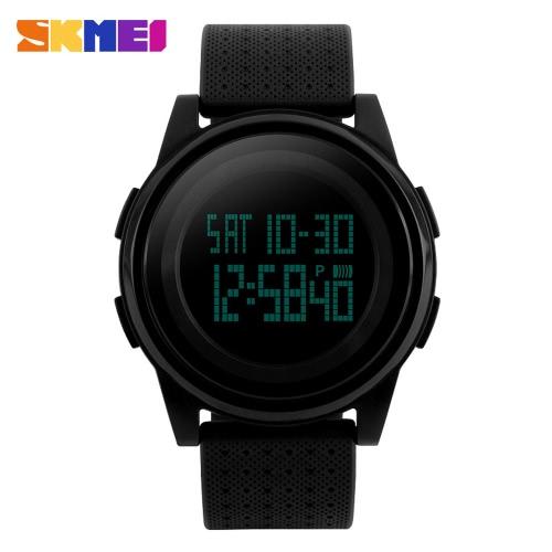 Resistente SKMEI 5ATM água Moda Digital Casual Sports relógio de pulso elegante Leve relógio com calendário